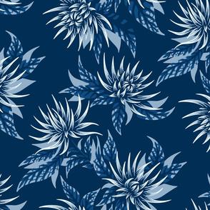 Classic Blue Chrysanthemums