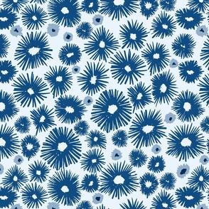 Large Blue Palette Posies