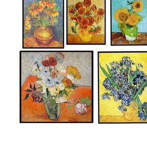 Van Gogh, florals, sunflowers