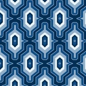 Blue Moroccan Geometric MeyerClark