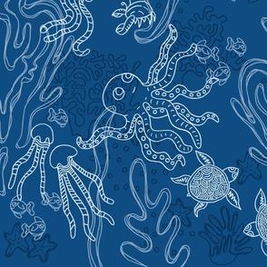 Under Sea Party_ pantone blue