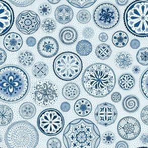 Blue Mandala Circles - small