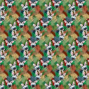 Moody Baby Zebras Hiding sm scale