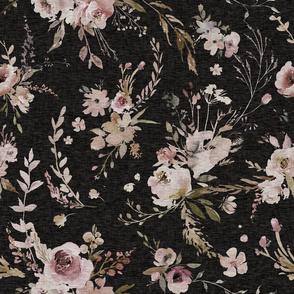 """18"""" Meadow Floral - equinox black"""