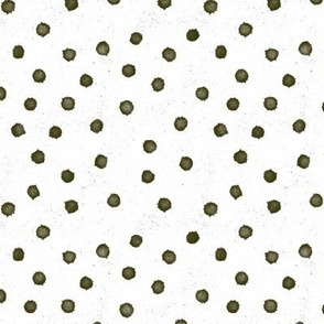 olive green dot medium