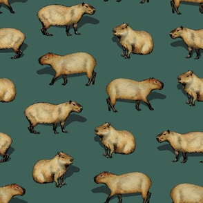 Cute Capybara Pattern - Giant Rodents