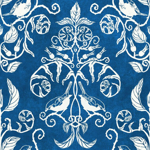 damask birds blue 2020 color to the year