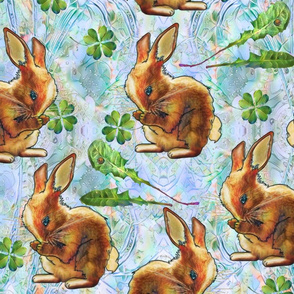 Hungry bunny pale blue