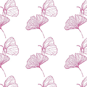 Ginkgo Butterfly White Pink