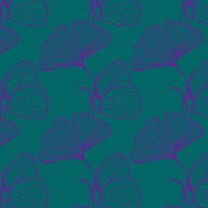 Ginkgo Butterfly Blue Purple
