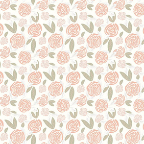 Gigi's Blush Rose Garden with Sage _ Faded Leaves _5x