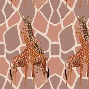 Giraffe Family by DulciArt,LLC