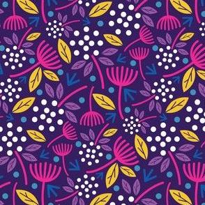 Dandelion Florals Royal Purple