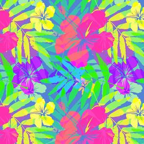Hawaiian Tropical Rainbow colors