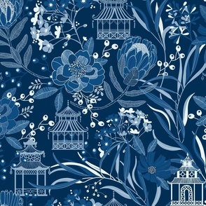 BLUE WILLOW PAGODA