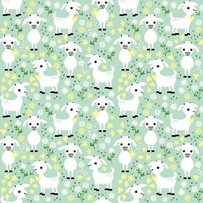 Baby goats on green - small