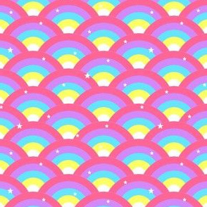 Pretty Rainbows with stars