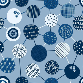 Connected Dots Blue