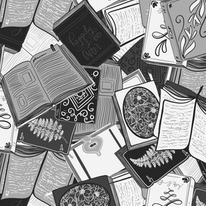 Book lovers - black and white