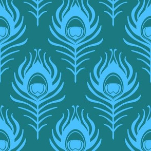 Peacock feather - teal and blue
