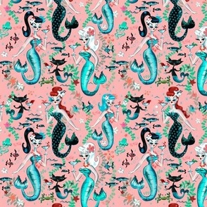 EXTRA SMALL- Martini Mermaids-coral