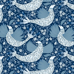 Peace Doves in Classic Blues