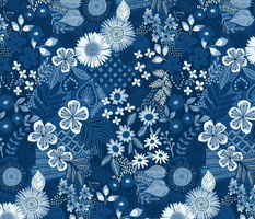 Blue monday floral
