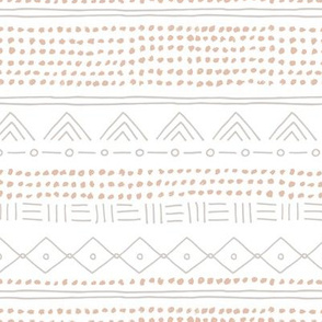 Minimal mudcloth bohemian mayan abstract indian summer love aztec design soft pastel beige gray nursery