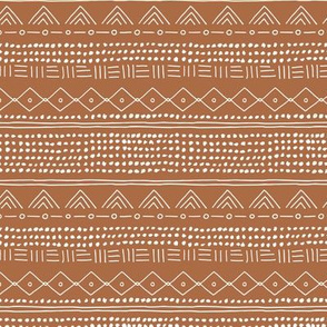 Minimal mudcloth bohemian mayan abstract indian summer love aztec design soft pastel copper rust SMALL