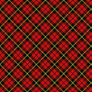 tartan in red black and yellow
