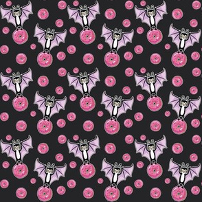 Bat and Donut - pink SMALL