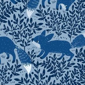 BLUE FOXES 4 COLORS