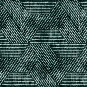 cadence triangles - geometric - dark green - LAD20