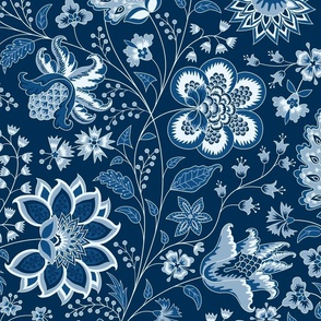 chintz dark blue