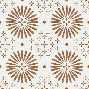 boho sun fabric - bohemian fabric, mudcloth fabric, gender neutral fabric, baby bedding fabric - brown