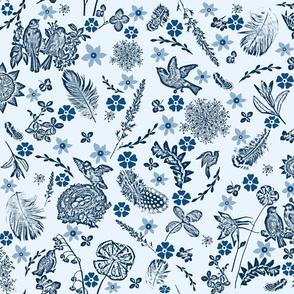 classic blue birdies