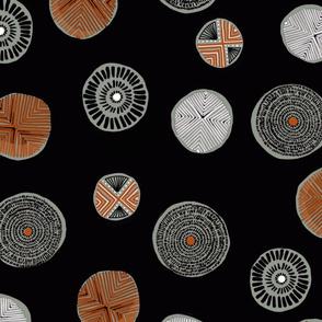 Circle Tribal block print scatter