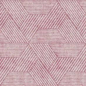 cadence triangles - geometric - mauve - LAD20