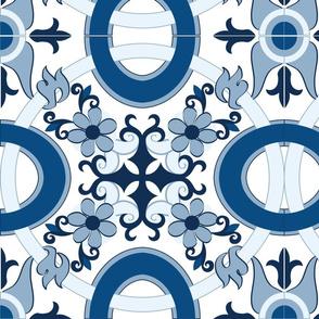 Classic Blue Floral Tile