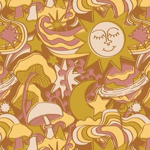 Psychedelic Daydream in Gold + Mauve