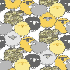 Sheep Shape (YELLOW)  XS