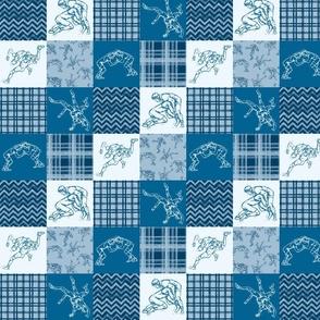 Wreslting Blue Cheater Quilt