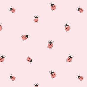 Simple ladybugs on pink
