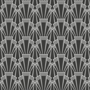 Grey Art Deco Scallop - Large