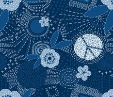 blue jeans sashiko