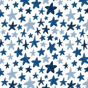 blue stars - medium scale graphic
