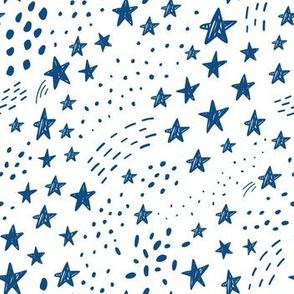 blue stars - small scale graphic