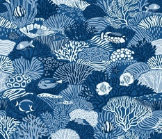 Coral Reef in classic blue