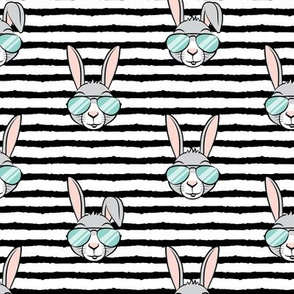 (large scale) easter bunny with sunnies - black stripes - bunnies C20BS