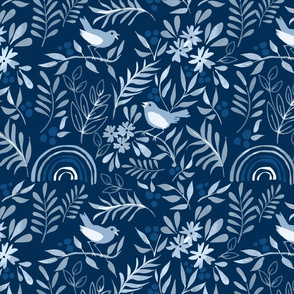 Classic Blue Pattern